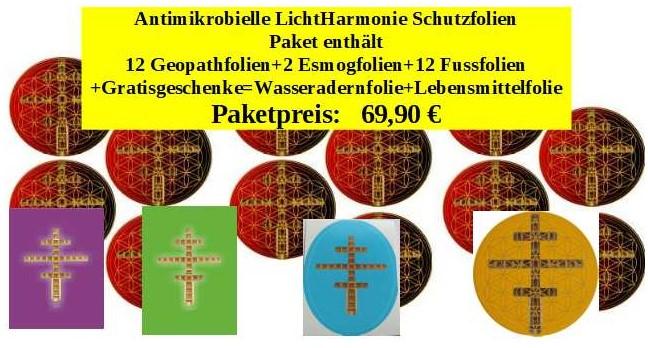 antimikrobielle LichtHarmonie Schutzfolien - Paket