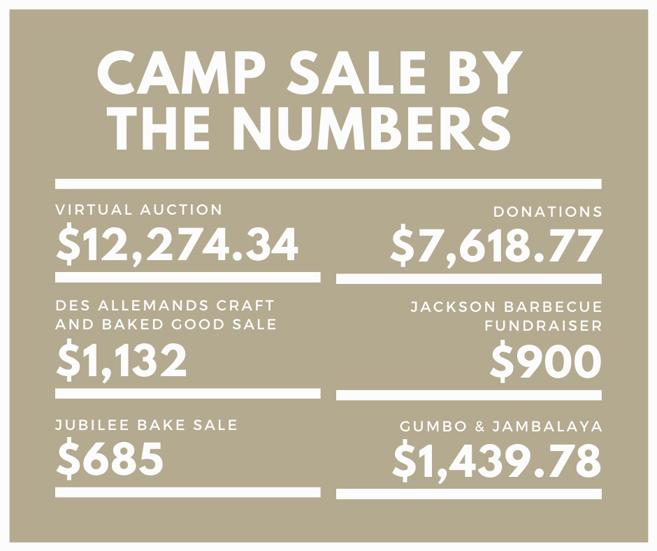 Camp Sale By the Numbers