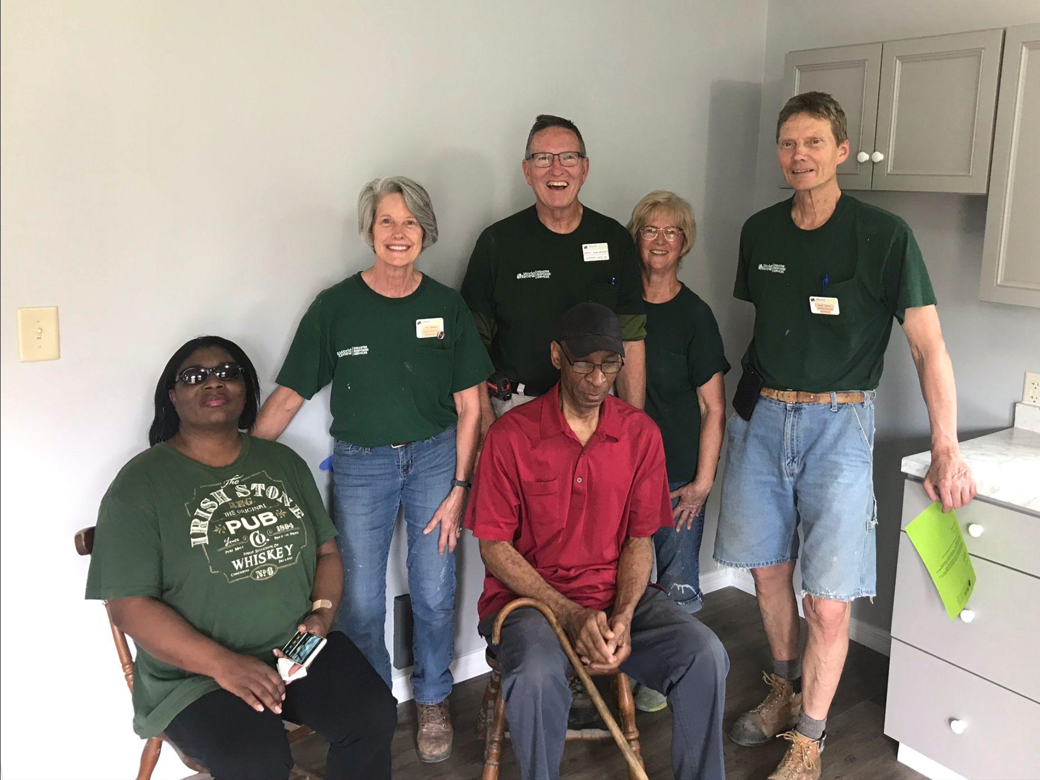 World Renew Volunteers at a house dedication