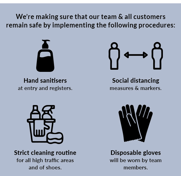 We're making sure that our team & all customers remain safe