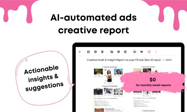 Pudding.ai ads creative report