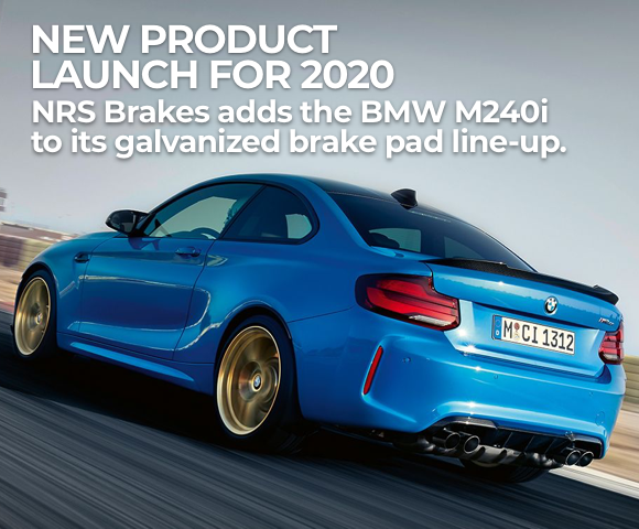 NEW!! Galvanized Brake Pads for BMW M240i from NRS Brakes
