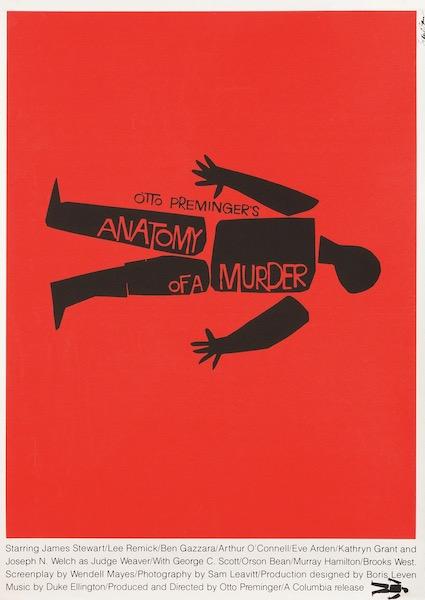 Anatomy of a Murder Original Movie Poster