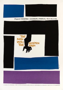 Saul Bass The Man With The Golden Arm Original Movie Poster