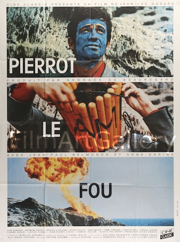 Pierrot Le Fou Original Vintage Movie Poster