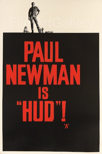 Hud Original Vintage Movie Poster