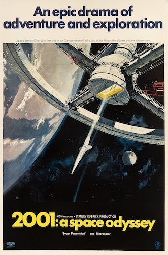 2001 A Space Odyssey Original Vintage Movie Poster