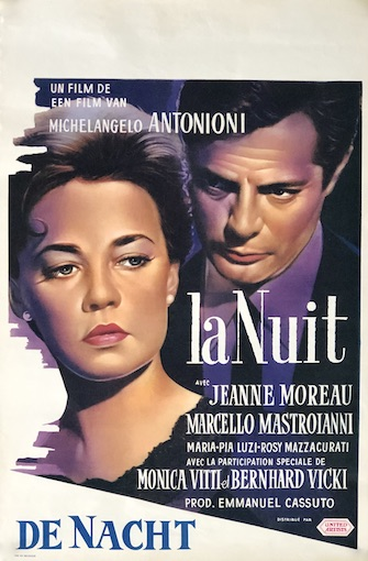 La Notte Original Vintage Movie Poster