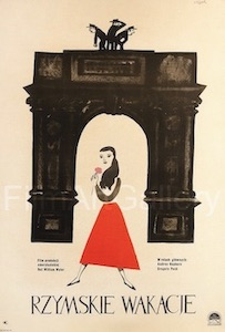 Audrey Hepburn Roman Holiday Polish Original Vintage Movie Poster