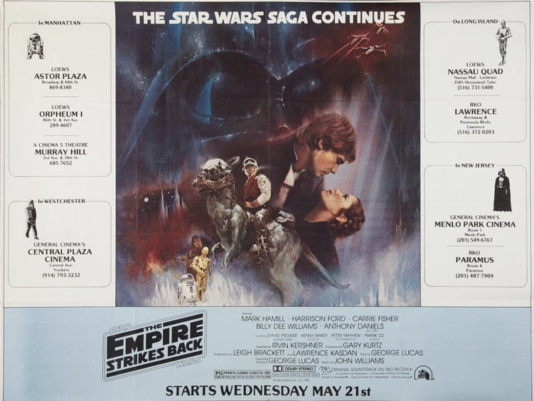The Empire Strikes Back Original Vintage Movie Poster