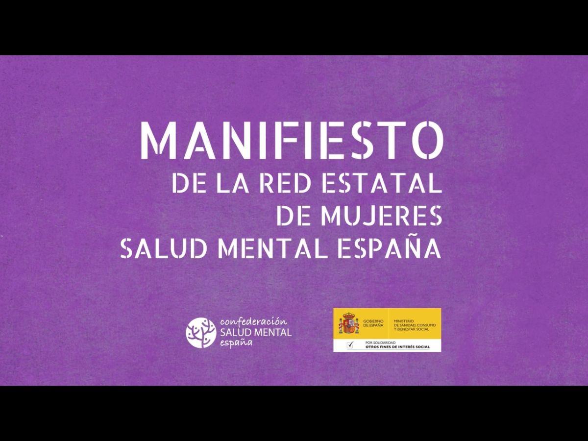 Manifiesto de la Red Estatal de Mujeres de SALUD MENTAL ESPAÑA