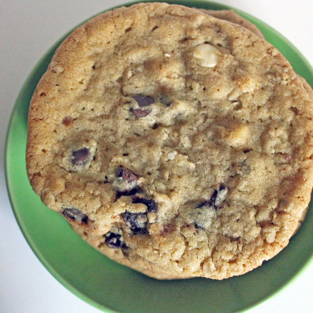 Big Triple Chocolate + Oat Cookies