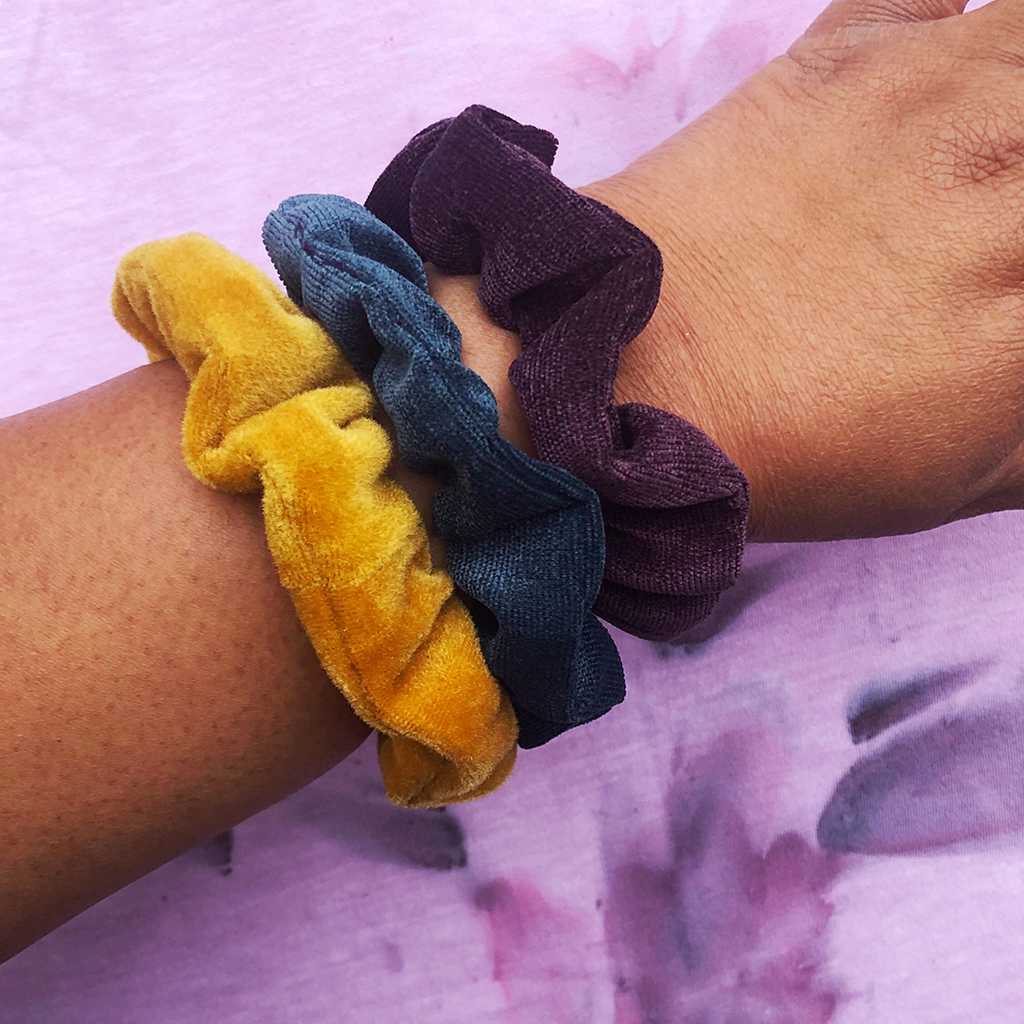 "The ""Faith"": Our Velvet Scrunchies (Made from Re-purposed Fabrics)"