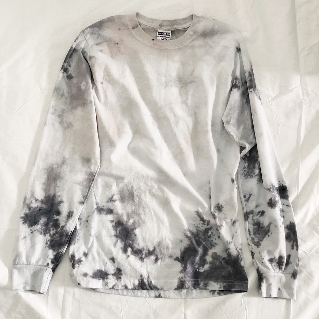 Long-Sleeve Splatter Tie Dyed T-Shirts (Made from Re-purposed Tees)