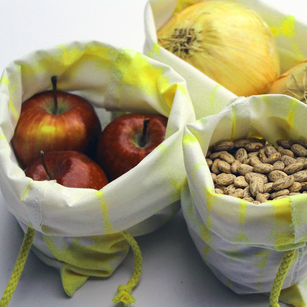 Set of 6 Reusable Produce Bags (Made with Repurposed Materials)