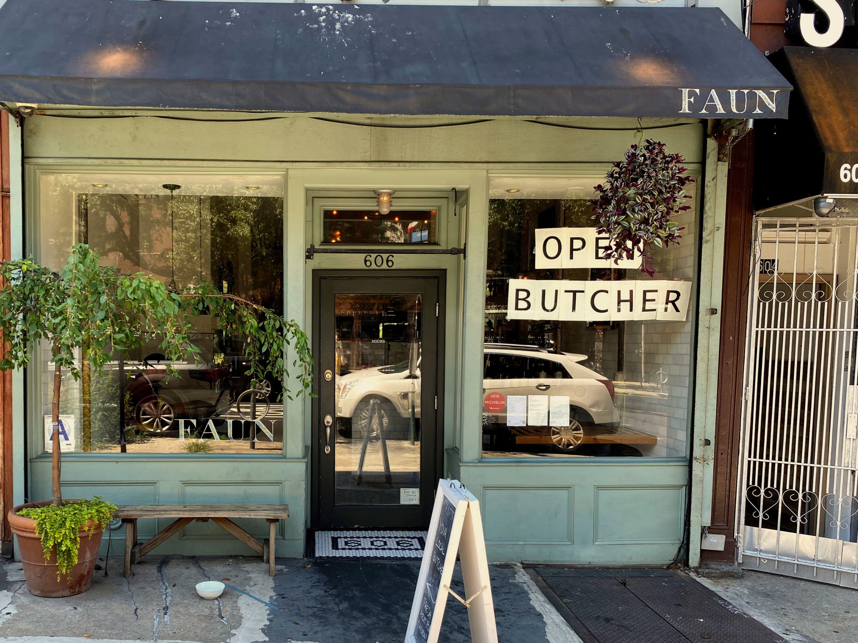 Greg & Corey's Pop Up Butcher Shop inside fo Faun