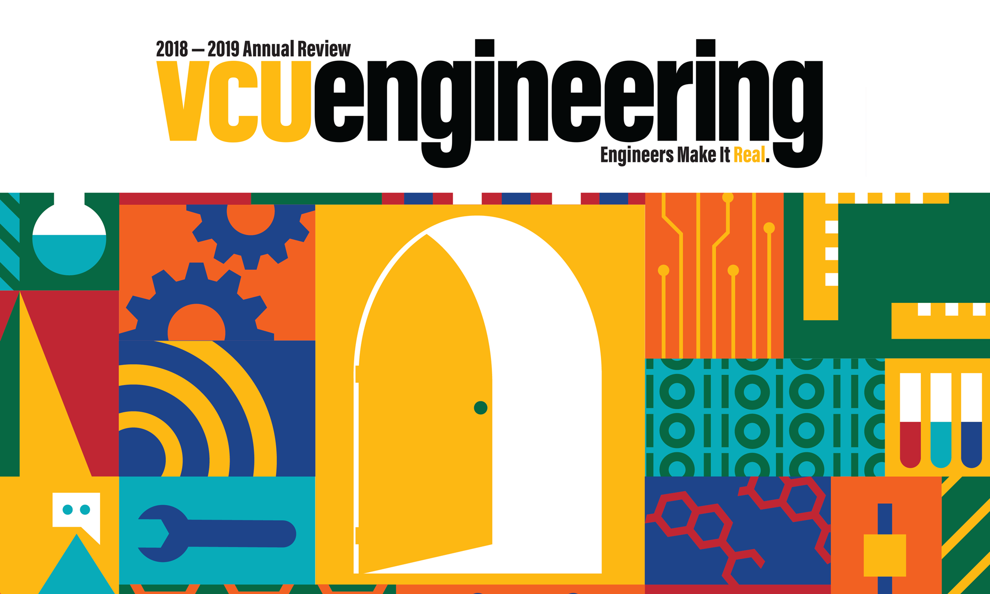 VCU Engineering Annual Report cover