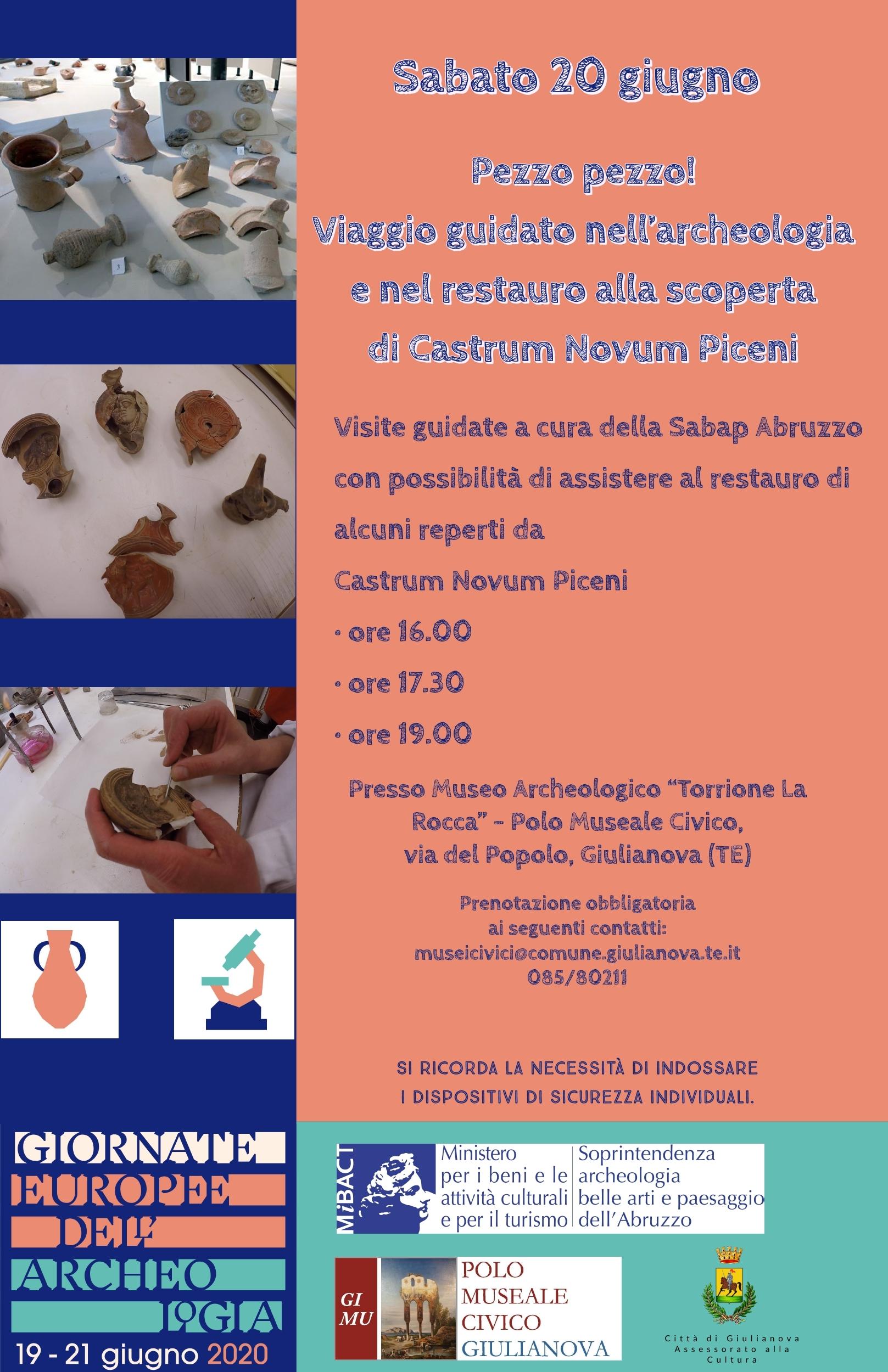 Sabato 20 giugno anche il Polo Museale Civico di Giulianova partecipa alle Giornate Europee dell'Archeologia