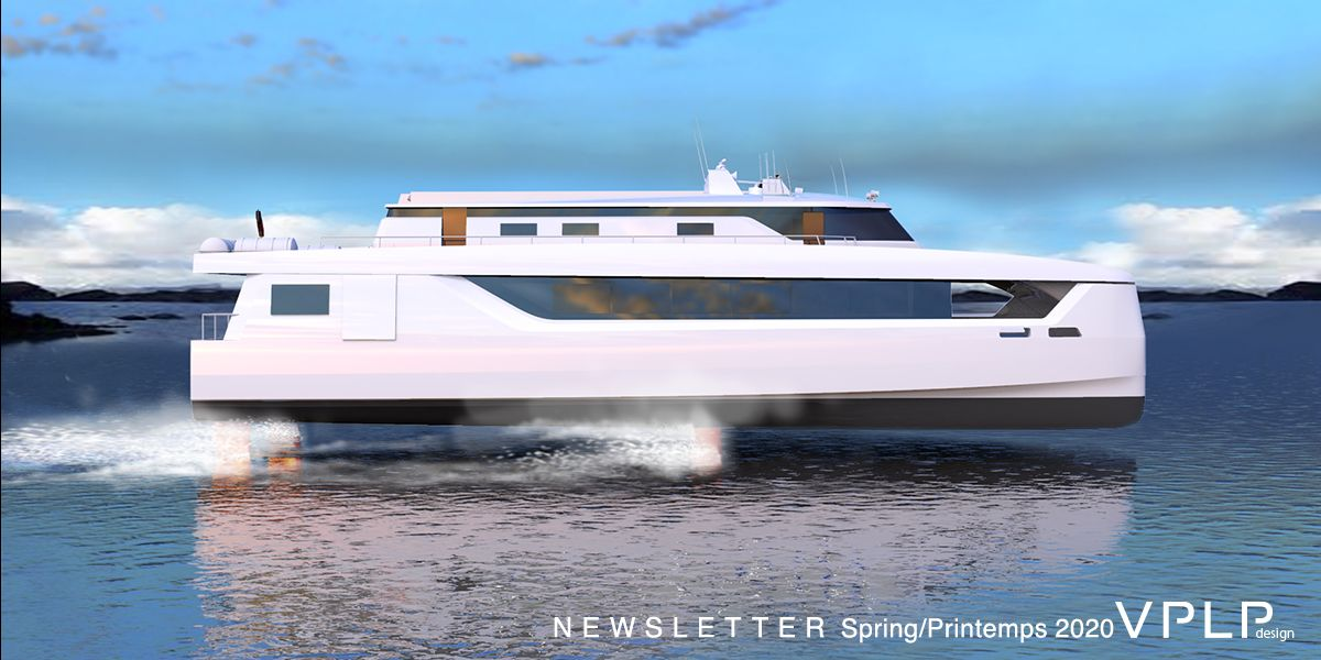 Fast Ferry Foiler by VPLP design and Alwena Shipping