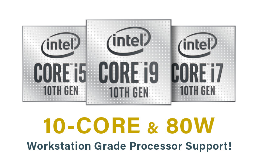 10-Core, Up To 80 W CPU