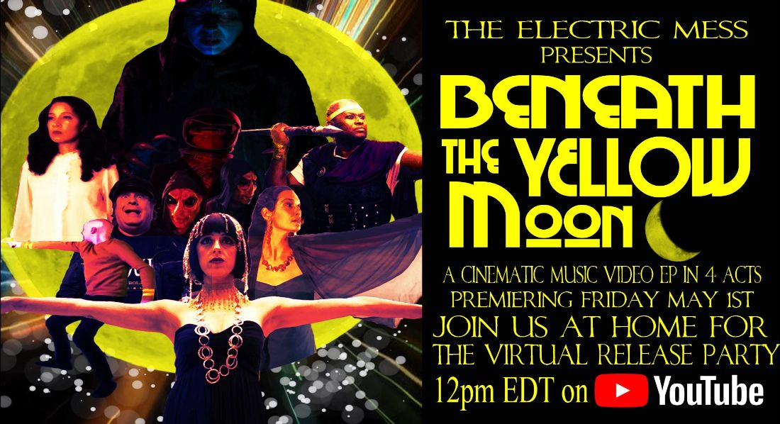The Electric Mess 'Beneath the Yellow Moon' release banner