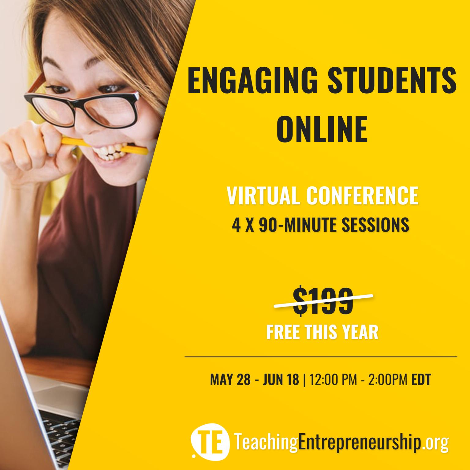engaging students online teaching entrepreneurship virtual conference workshop