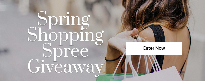 Spring shopping spree giveaway image