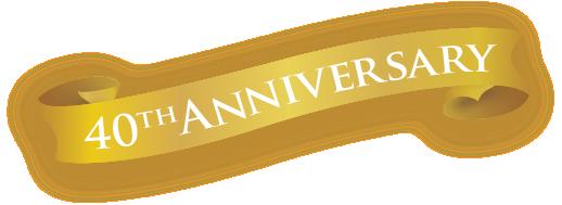 40th Year Anniversary Ribbon