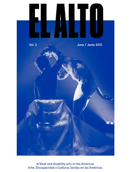The cover of El Alto Volume 2 with a blue-tinted photo of two dancers