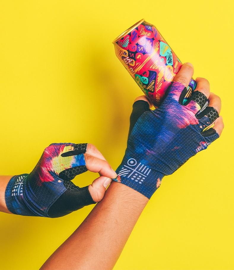 custom cycling gloves