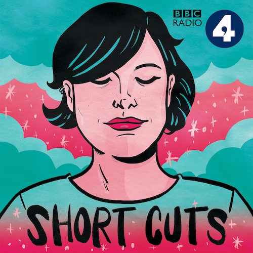 """A short haired woman looking down at the words """"Short Cuts"""" in black, and the BBC Radio 4 logo in the top right corner."""