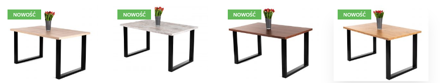 rozkładane stoły loftowe