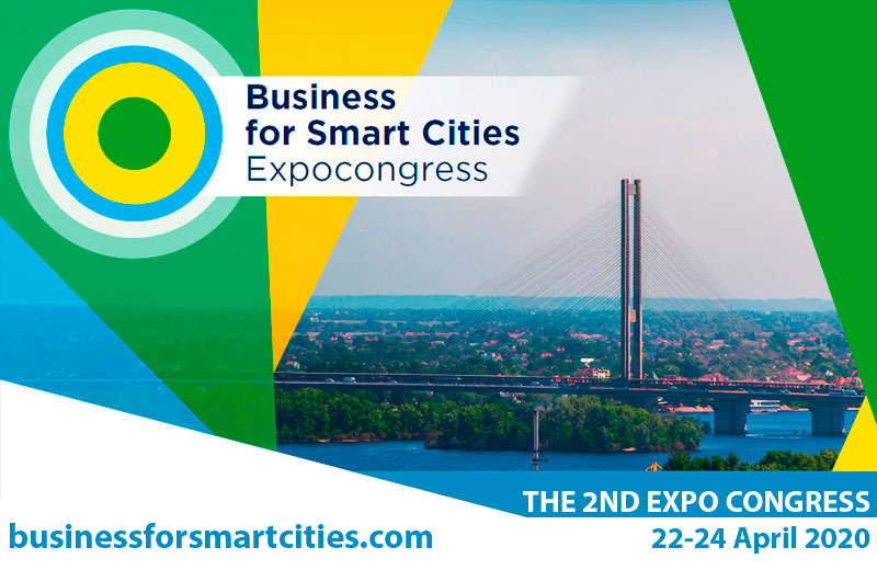 Business for Smart Cities expocongress 22 to 24 april 2020 event graphic