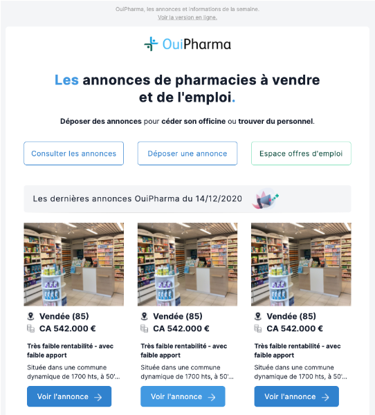 refonte email ouipharma