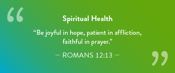 Spiritual Health quote.