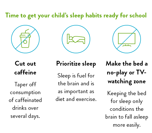 Time to get your child's sleep habits ready for school.