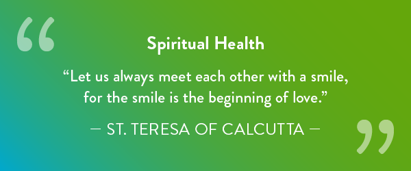 Spiritual Health message