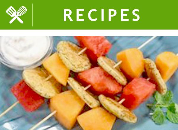 RECIPES: Pancake Skewers with Citrus Yogurt Dip
