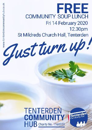 Free Community Soup Lunch | Tenterden Community Hub