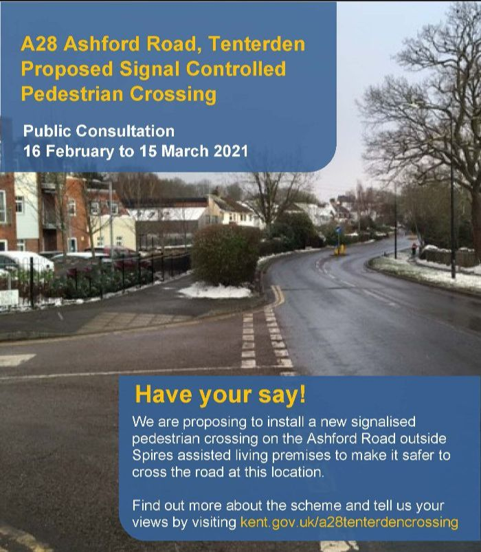 A28 Ashford Road, St Michaels, Tenterden - Proposed Signal Controlled Pedestrian Crossing