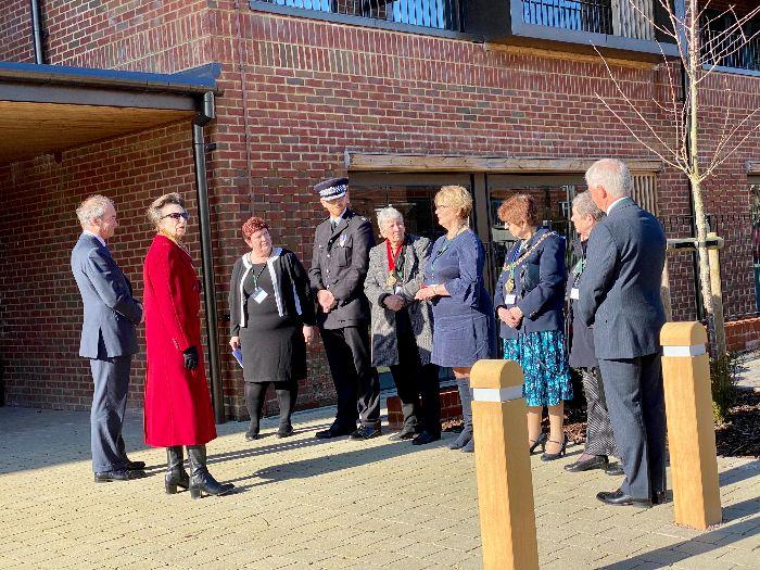 Princess Anne  visiting Danemore Tenterden