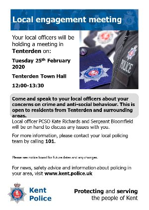 Meet Kent Police, local engagement meeting