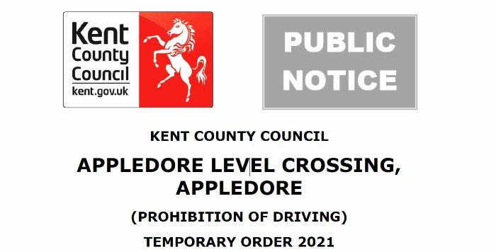 Appledore Level Crossing - Road Closed