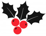 Graphic of a holly and berries