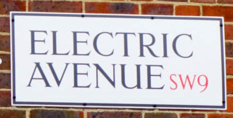Road sign electric avenue