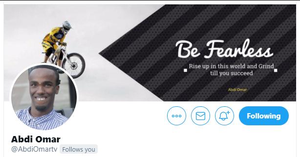 Twitter profile banner for Abdi Omar