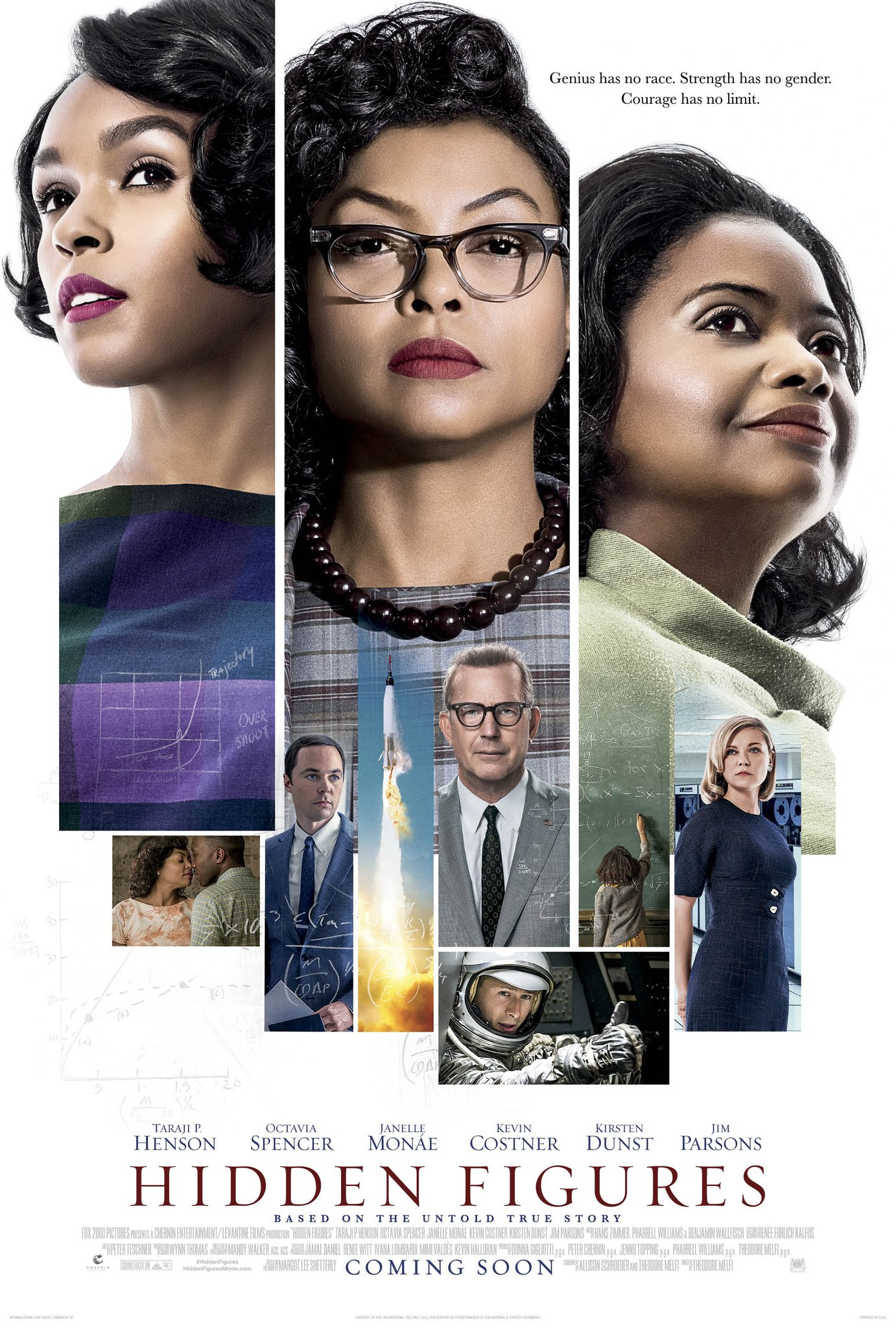 Cover of Hidden figures that shows three black women smiling on the cover