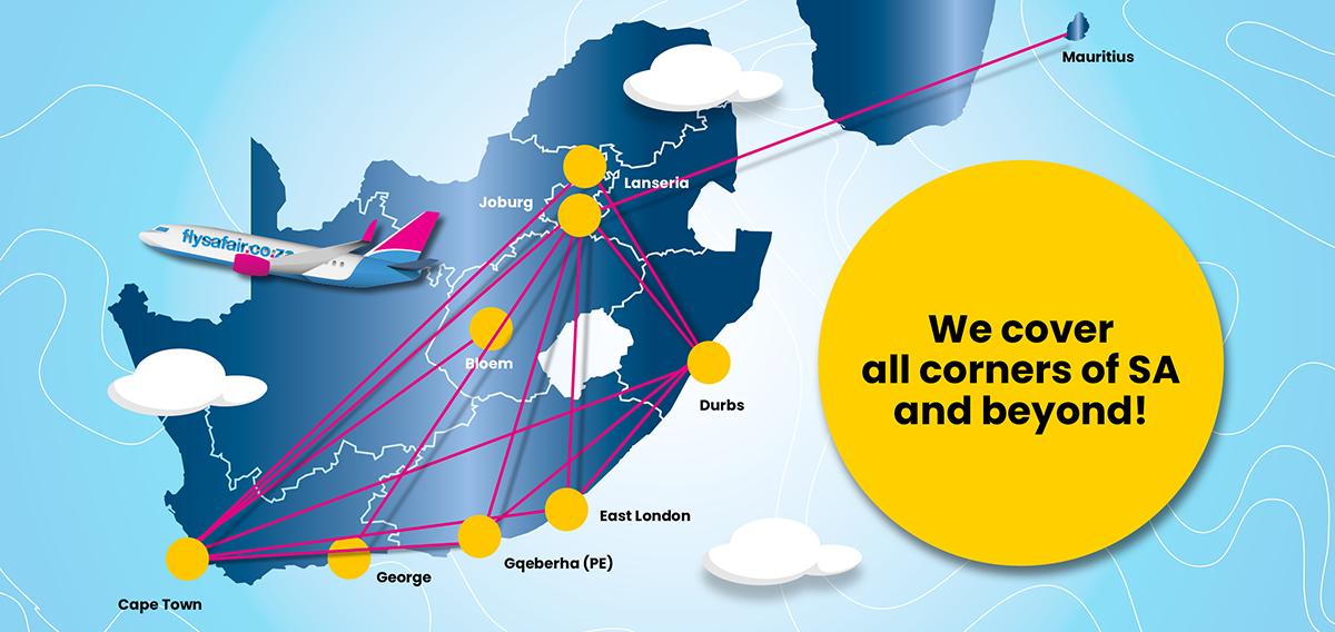 We cover all corners of SA and beyond!