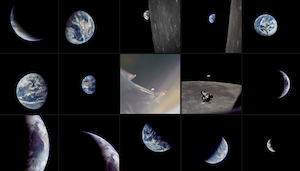 Multiple photos of Earth from Space