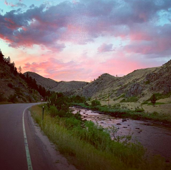 Poudre Canyon at sunset